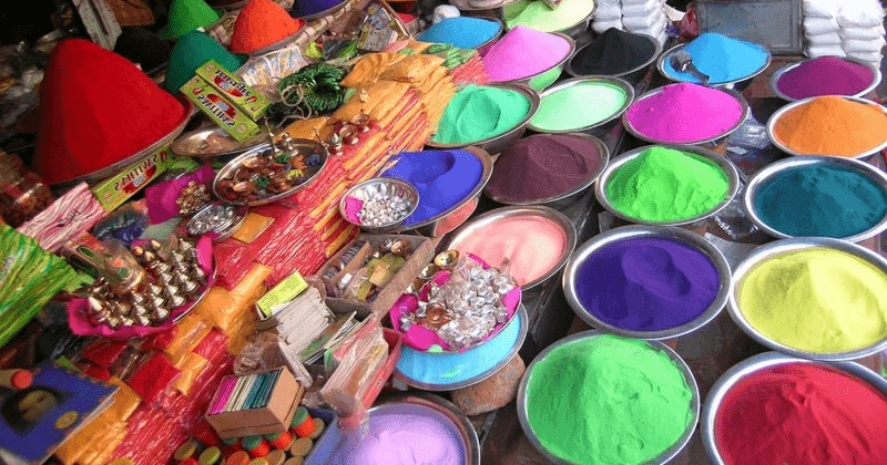 Shop of Colors in Mathura